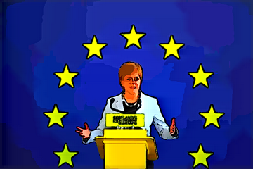 Nicola Sturgeon and European flag