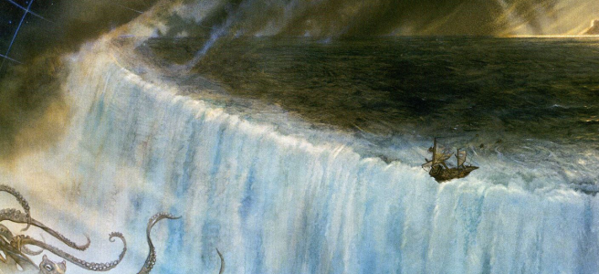 Detail from 'The Edge of the World' by John Howe